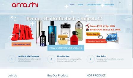 portfolio arrashi parfums
